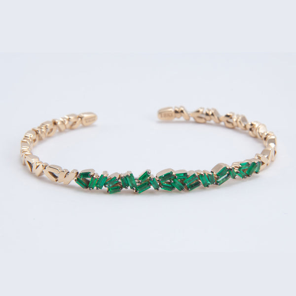 Emerald Criss Cross Cuff