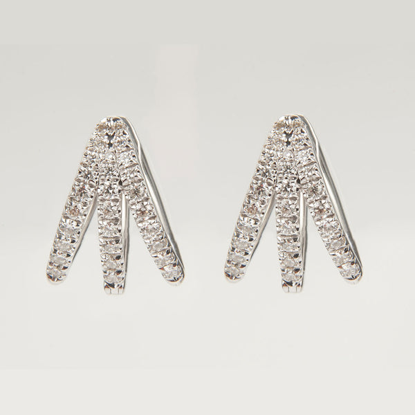 Cris White Gold & Diamond Earrings