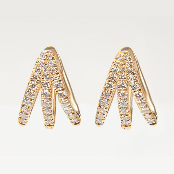 Cris Yellow Gold & Diamond Earrings