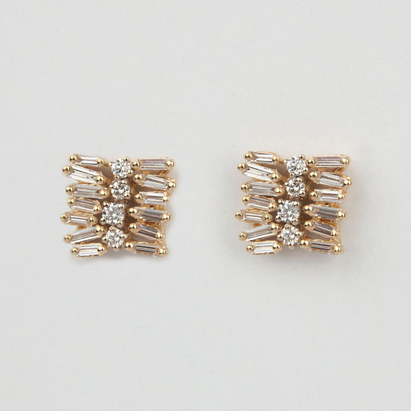 Staggered Diamond Earrings