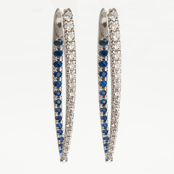 Large Cristina Sapphire & Diamond Earrings