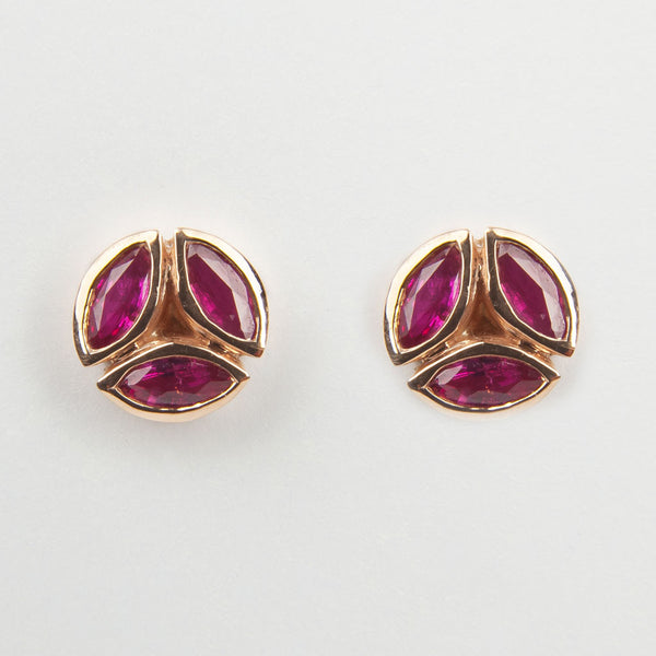 Hazel Ruby Earrings