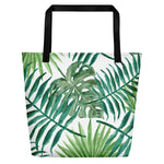 Leaf Me Alone Beach Bag Black Back