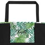 Leaf Me Alone Beach Bag Inside Pocket