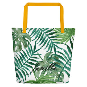 Leaf Me Alone Beach Bag
