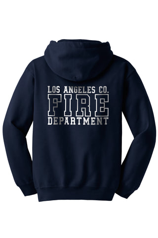 Los Angeles County Fire Department Duty Hooded Zippered Sweatshirt 1/C CTY