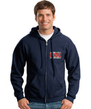 Los Angeles County Fire Department Duty Hooded Zippered Sweatshirt 2/C CTY