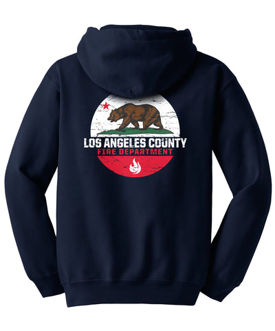 Los Angeles County Fire Department California Bear Hooded Sweatshirt