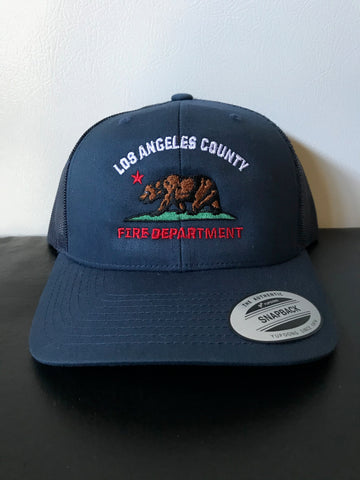 Los Angeles County Fire Department California Bear SNAP BACK TRUCKER Hat
