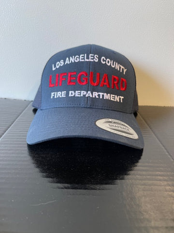 Pre Order Los Angeles County Fire Department LIFEGUARD SNAP BACK TRUCKER Hat