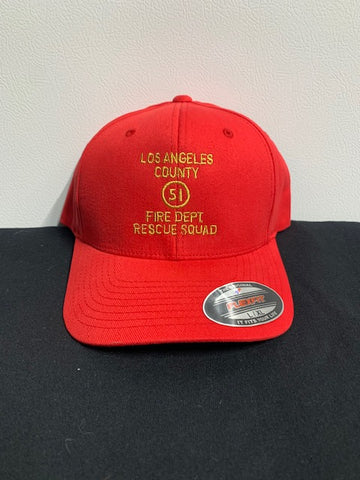 Emergency 51 Rescue Squad Hat Red