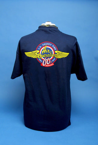Los Angeles County Fire Department Air Operations 60th Anniversary T-Shirt