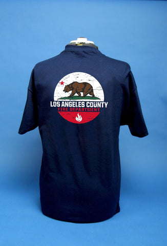 L.A. Co. Fire Dept. California Bear T-Shirt