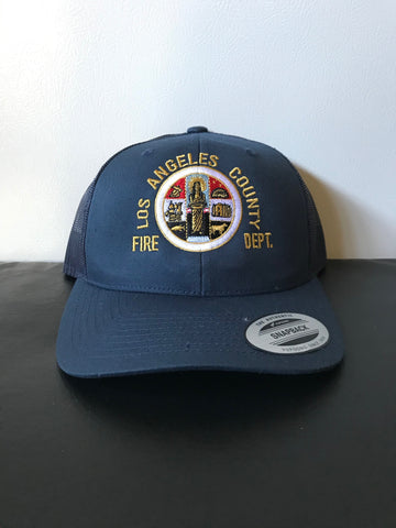 Los Angeles County Fire Department Official County Seal SNAP BACK TRUCKER Hat