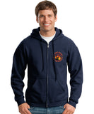 Los Angeles County Fire Dept. Wildland Operations Hooded Zipper Sweatshirt.