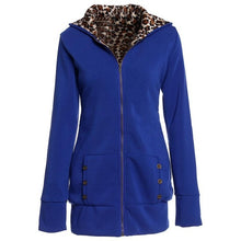 Hot New Hooded Padded Leopard Jacket Plus Size
