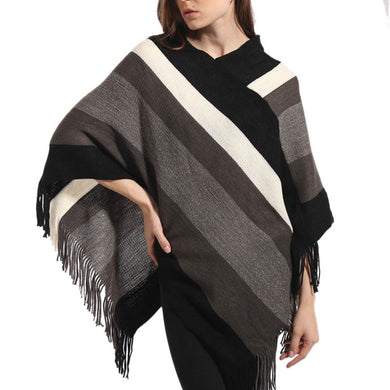 Women Knitted Poncho  Pullover  Plus Size