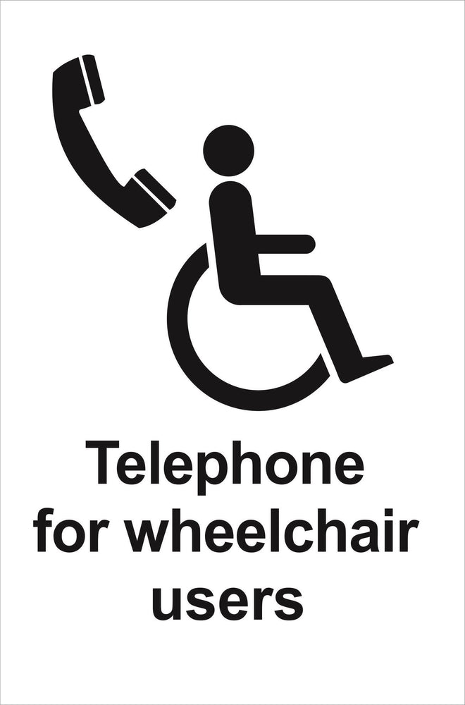 Telephone for wheelchair users