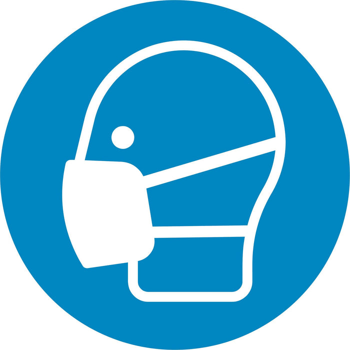 Wear a mask - Symbol sticker sheet supplied as per image shown