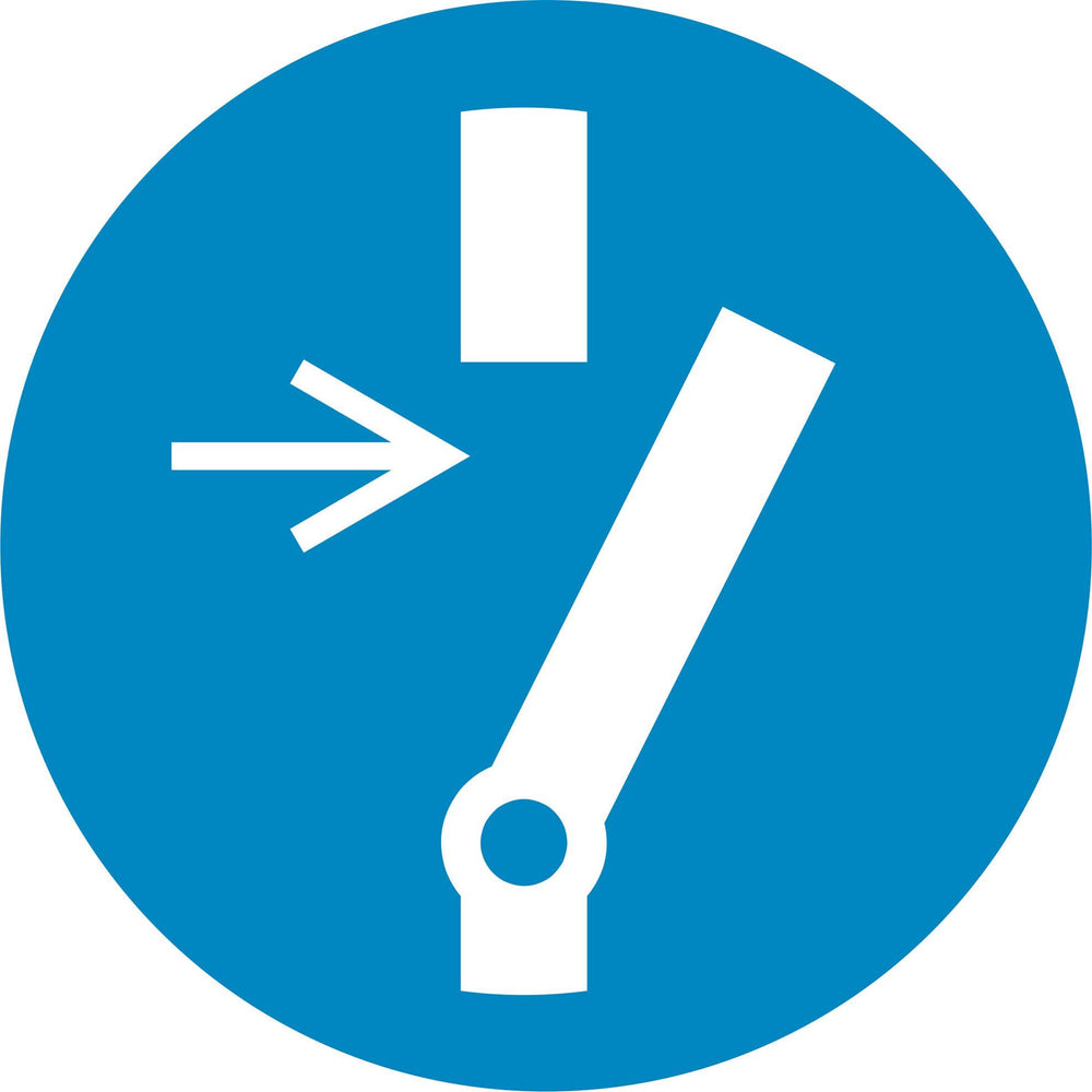 Disconnect before carrying out maintenance or repair - Symbol sticker sheet supplied as per image shown