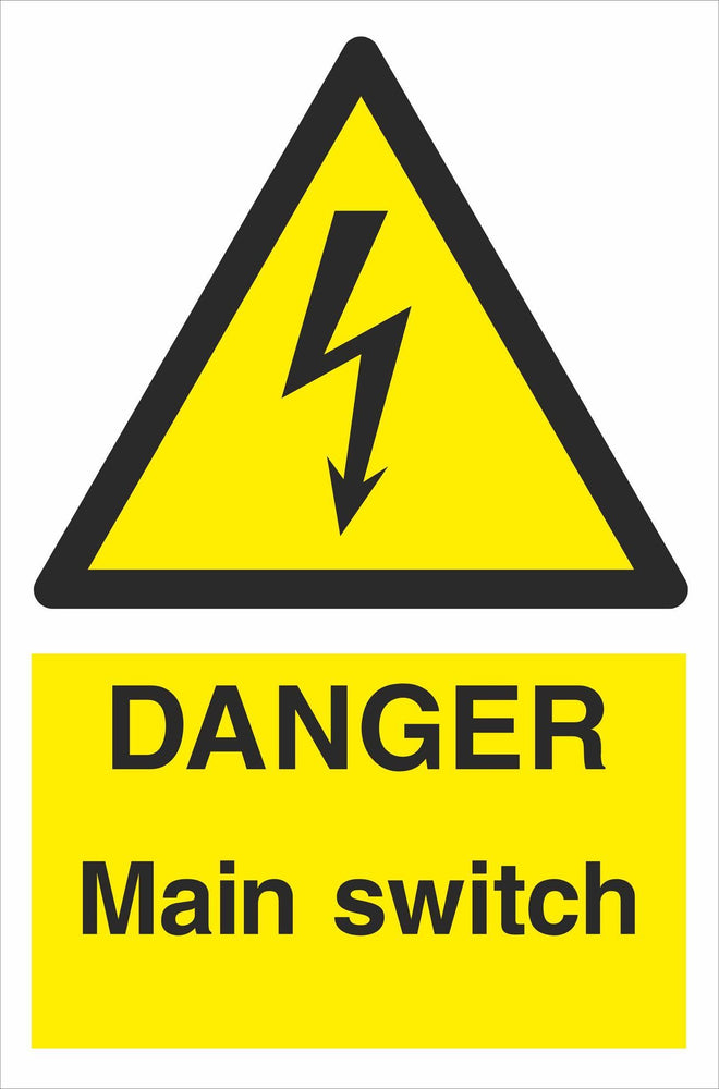 DANGER Main switch