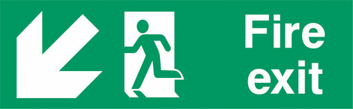 Fire Exit - Running Man Left - Down Left Arrow