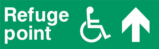 Refuge point - Disabled symbol - Up Arrow