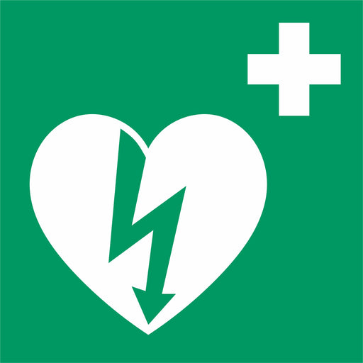 Automated external heart defibrillator - First aid symbol