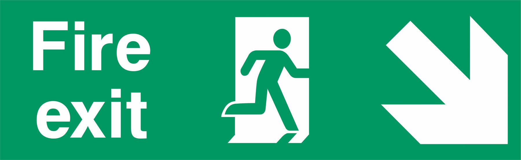 Fire Exit - Running Man Right - Down Right Arrow