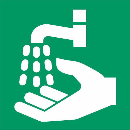 Emergency hand wash station - First aid symbol