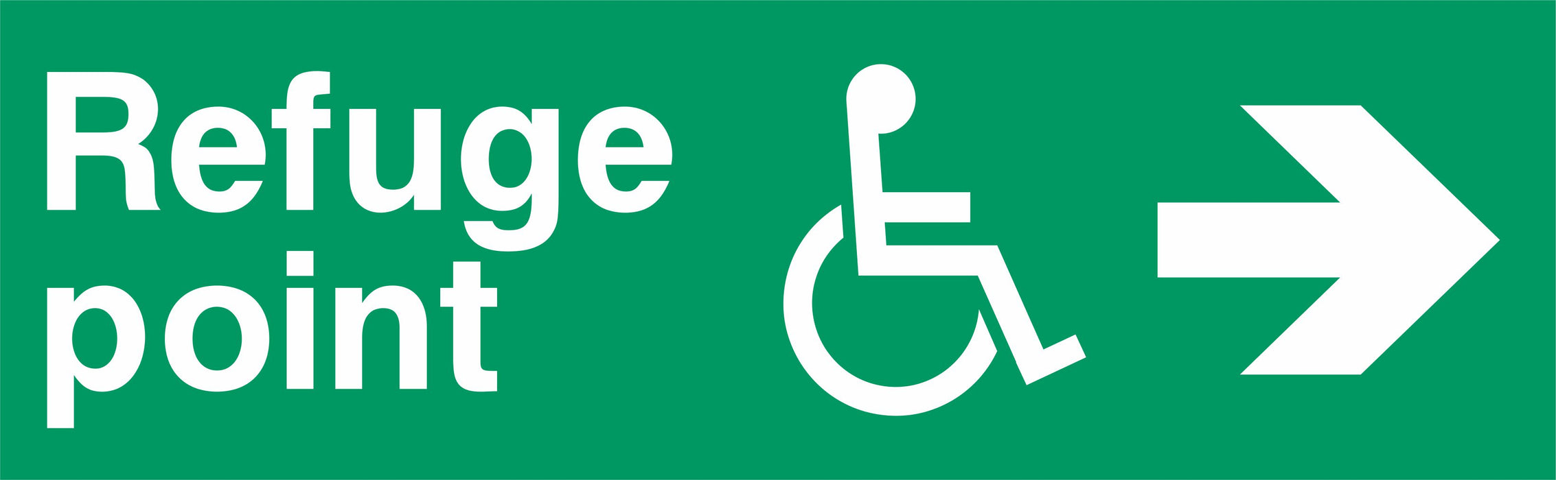 Refuge point  - Disabled Symbol - Right Arrow