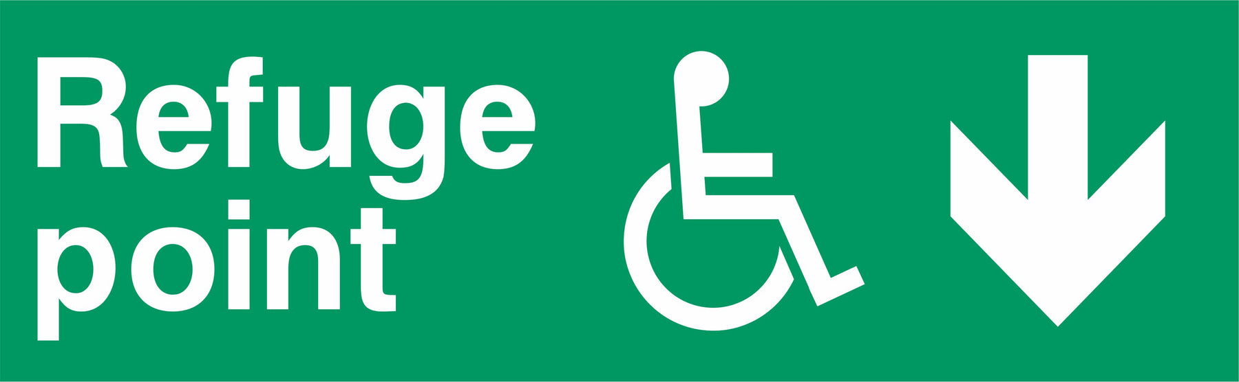 Refuge point - Disabled symbol - Down Arrow