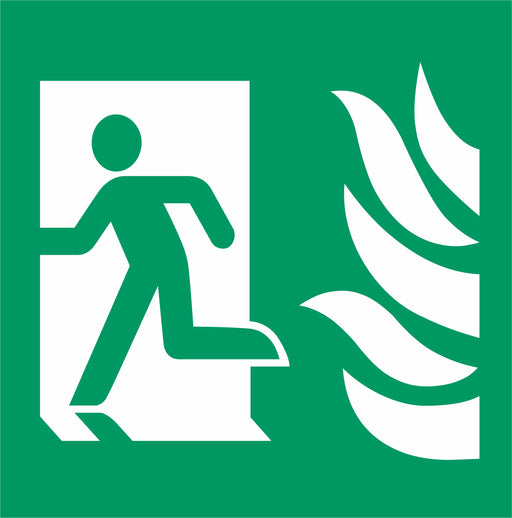 Fire Exit - Emergency Exit - Running Man left - NHS COMPLIANT