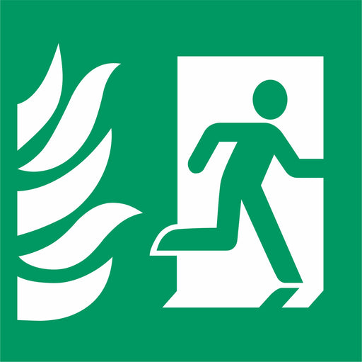 Fire Exit - Emergency Exit - Running Man Right - NHS COMPLIANT