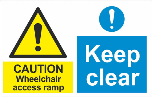 CAUTION Wheelchair access ramp Keep clear