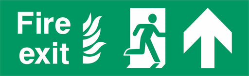 Fire Exit - Running Man Right - Up Arrow - NHS COMPLIANT