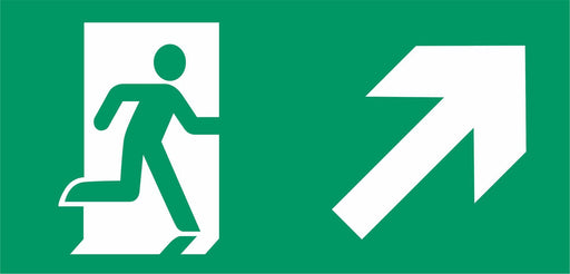 Emergency Escape - Running Man Right - Up Right Arrow
