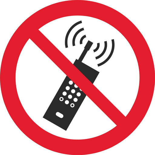 No activated mobile phones - Symbol sticker sheet