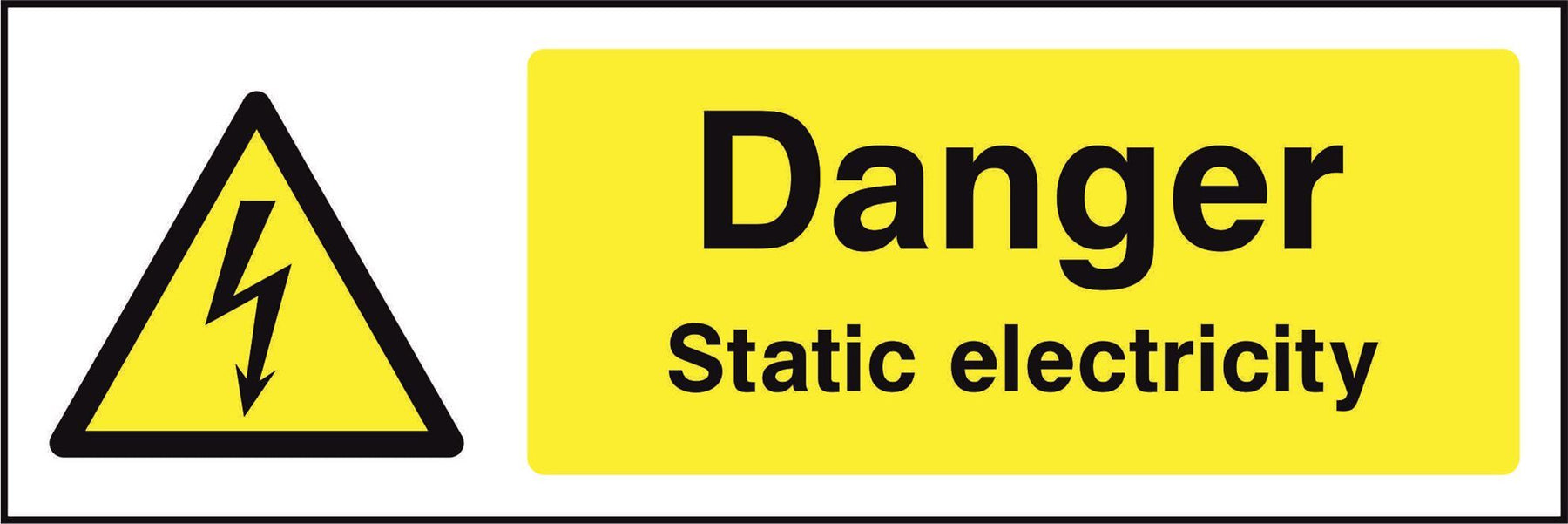 Danger Static electricity