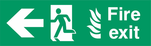 Fire Exit - Running Man Left - Left Arrow - NHS COMPLIANT