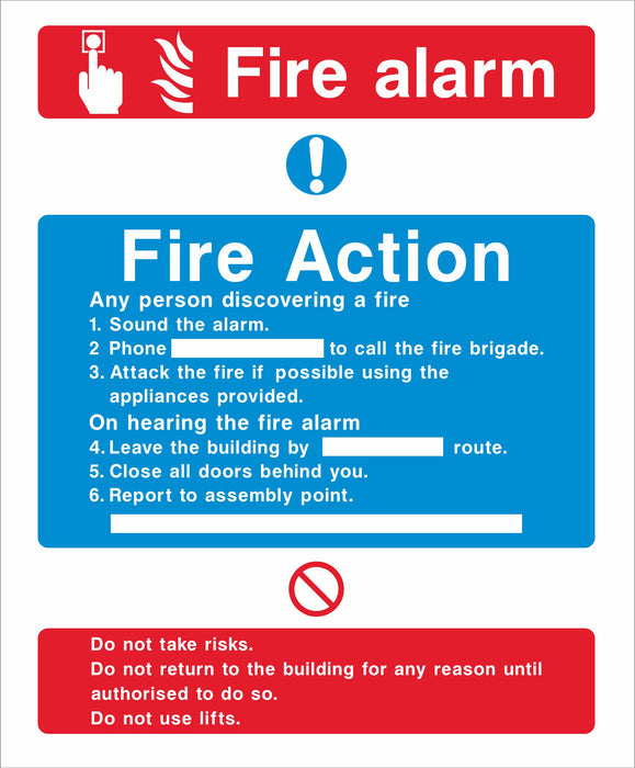 Fire Action - Fire alarm