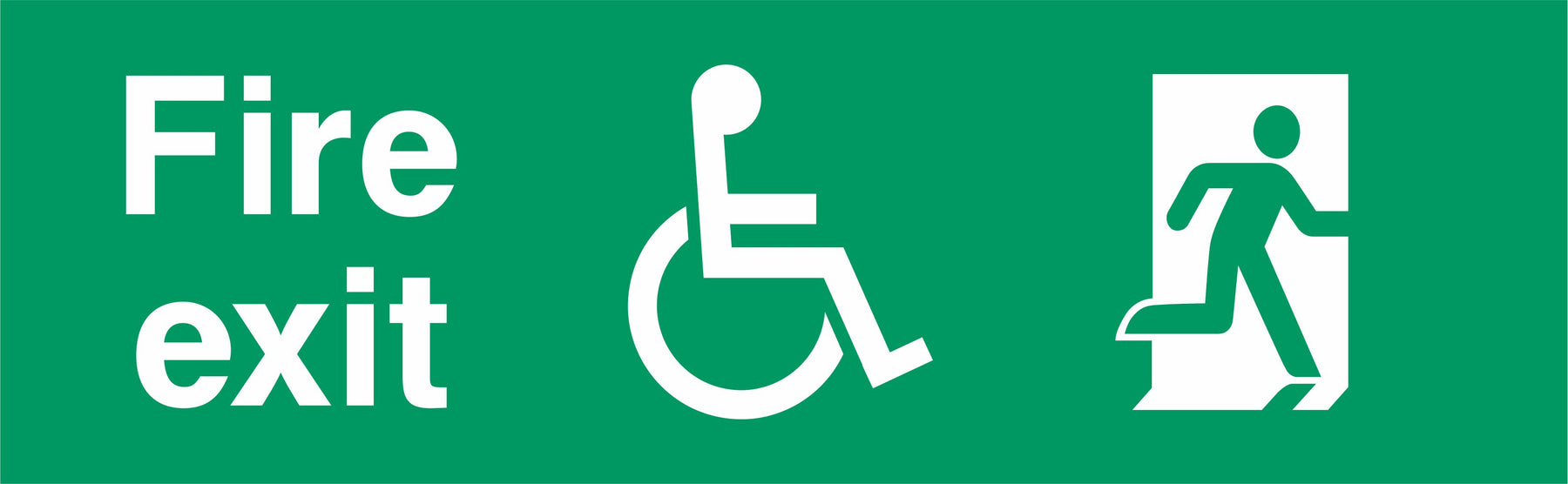 Fire exit - Running Man Right - Disabled logo