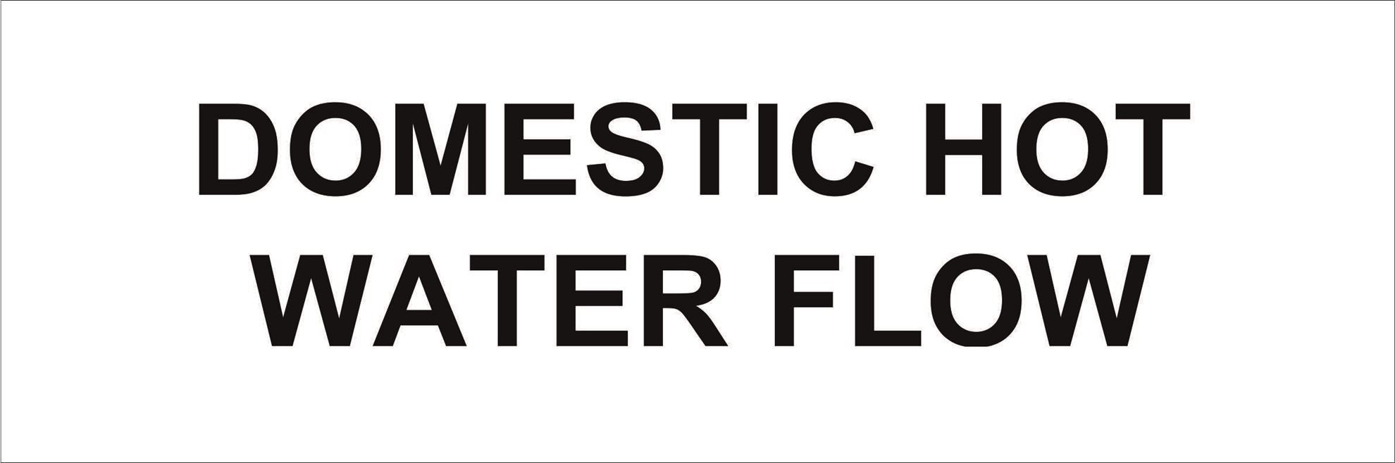 Pipeline Marking Label - DOMESTIC HOT WATER FLOW
