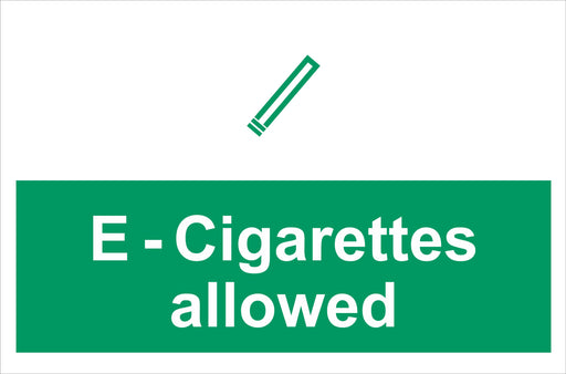 E-Cigarettes allowed
