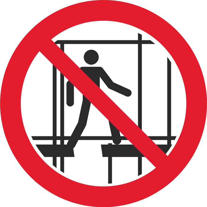 Do not use this incomplete scaffolding - Symbol sticker sheet
