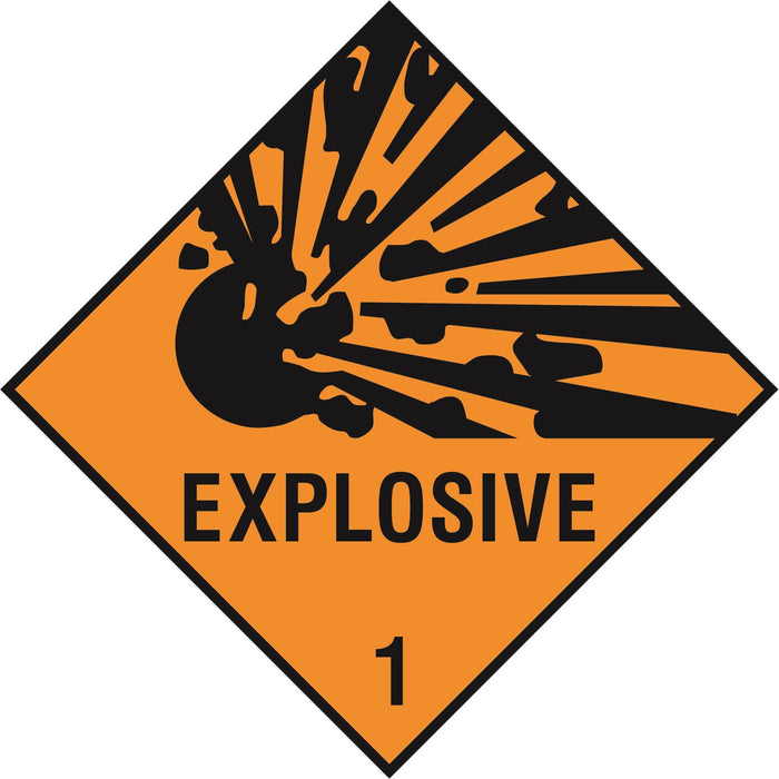 Hazardous Diamond - EXPLOSIVE 1