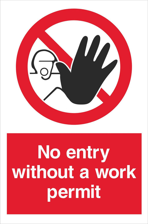 No entry without a work permit