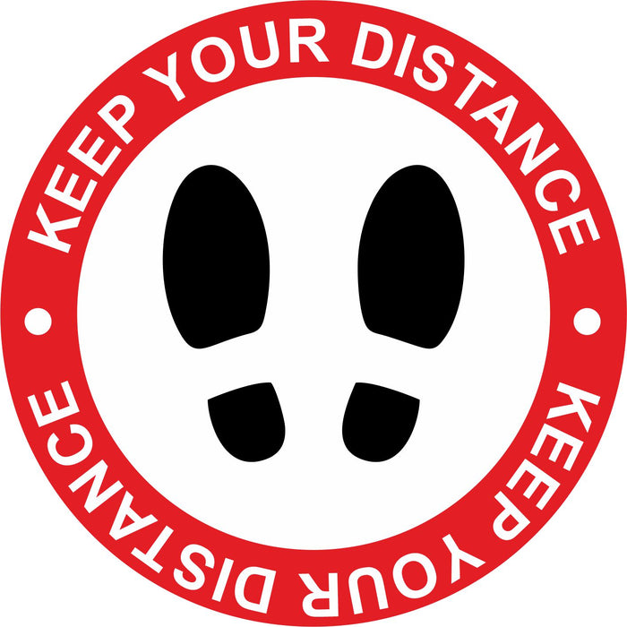 FLOOR STICKER - KEEP YOUR DISTANCE - COVID 19 SOCIAL DISTANCING