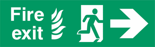 Fire Exit - Running Man Right - Right Arrow - NHS COMPLIANT