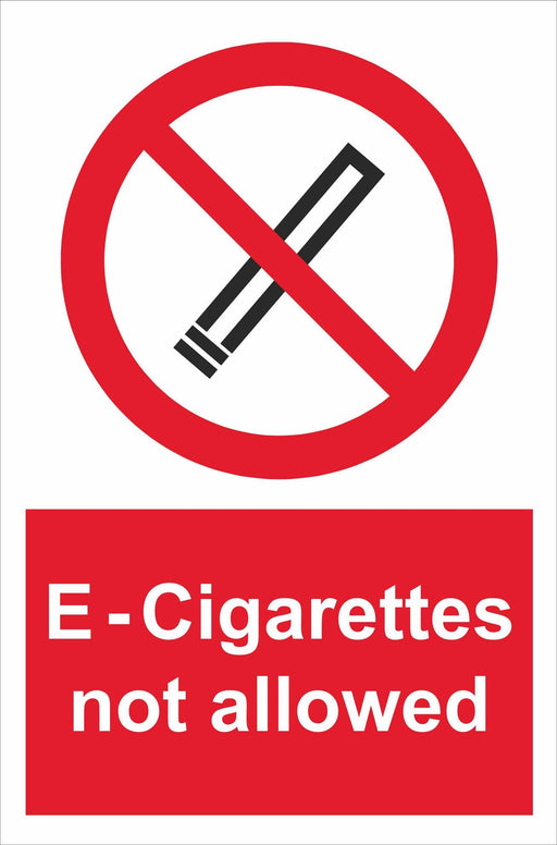 E-Cigarettes not allowed